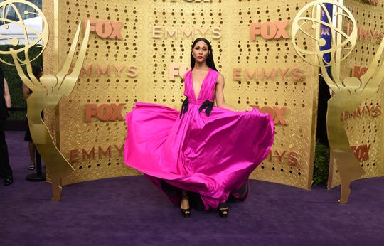 Mj Rodriguez arrives at the 71st Primetime Emmy Awards on Sunday, Sept. 22, 2019, at the Microsoft Theater in Los Angeles. (Photo by Jordan Strauss/Invision/AP)