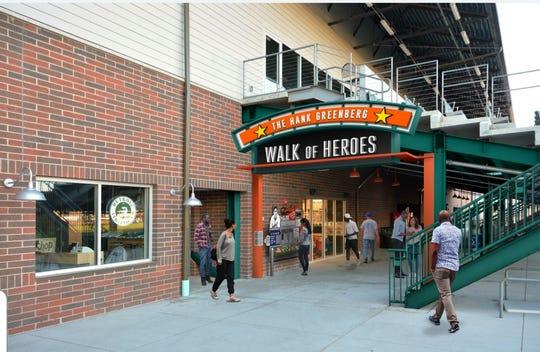 The Hank Greenberg Walk of Heroes at The Corner Ballpark.