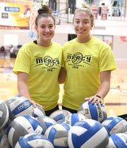 Farmington Hills Mercy's Julia Bishop, left, and Jess Mruzik