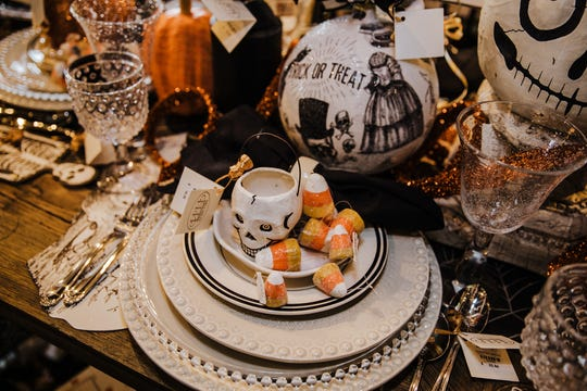 Halloween is the perfect time to switch up your normal tabletop routine. Try mixing and matching a variety of accessories you have on hand to complete your table theme.