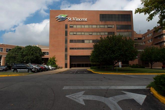 St. Vincent Hospital in Evansville, Monday afternoon, Sept. 23, 2019.