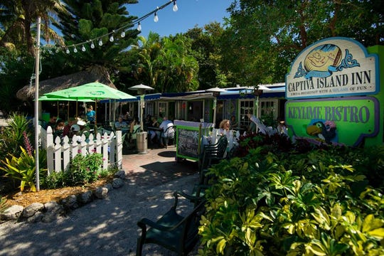 Keylime Bistro sits next door to the Captiva Island Inn on Captiva.