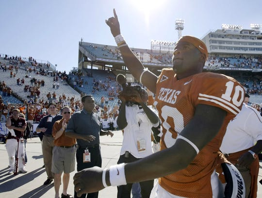 Vince Young led Texas to a national championship during its nine consecutive 10-win seasons that began in 2001; from 2010-17, the Longhorns had four losing seasons and no 10-win seasons.
