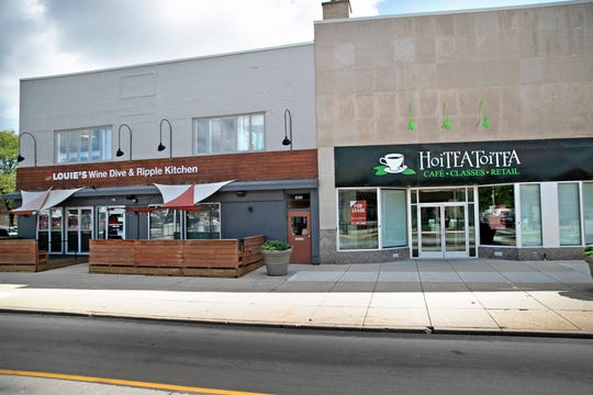 Louie's Wine Dive & Ripple Kitchen and HoiTea ToiTea sat side by side on College Avenue at Broad Ripple Avenue.