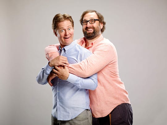 Tim Heidecker, left, and Eric Wareheim will perform Feb. 20, 2020, in Indianapolis.