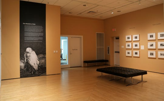 """""""Disasters of War"""" is featured in the Stanley Visual Classroom on the third floor of the Iowa Memorial Union and features dozens of prints from artist Francisco José de Goya y Lucientes"""