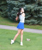 Violet Sinishtaj of Hartland shot 81 in the Coach Miller Invitational at Oak Pointe Country Club on Monday, Sept. 23, 2019.