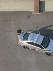An LMPD officer operated a drone outside 800 Tower City Club Apartments this past weekend.
