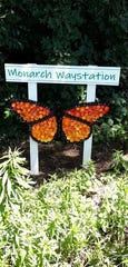 The 4-foot wide sculpture created by DeWitt Middle School students to mark the schools monarch waystation was found vandalized Sept. 19, 2019.