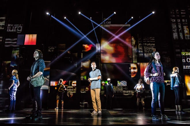 "Stephen Christopher Anthony and the North American touring company perform the musical ""Dear Evan Hansen."""