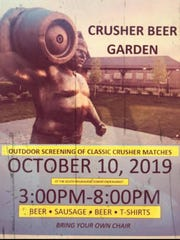 A Crusher Beer Garden will be held in South Milwaukee from 2-8 p.m., Oct. 10.
