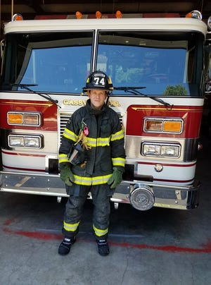 The Gassville Volunteer Fire Department Auxiliary will meet at 7 p.m. Oct. 3 at the Gassville Fire Department, located at206 S. School St. in Gassville, Ar. Pictured is firefighter Andrew Jackson with his new gear bought by the Auxiliary. All are welcome to attend the meeting. For information, call (870) 435-6119 or visit the group'sFacebook page athttps://www.facebook.com/GassvilleFDAuxiliary.