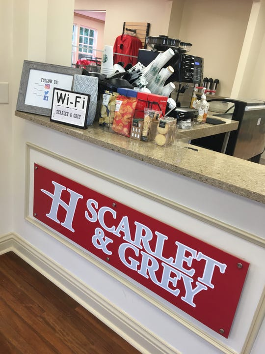 The Scarlet and Grey shop at 1140 E. Fairview Ave. serves Starbucks drinks.