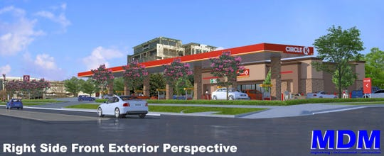 This artist's rendering shows a Circle K that's being built on Madison Avenue in Montgomery.