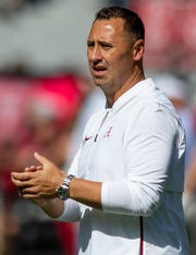 Alabama offensive coordinator Steve Sarkisian before the Southern Miss game at Bryant-Denny Stadium in Tuscaloosa, Ala., on Saturday September 21, 2019.
