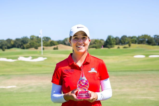Laura Restrepo shot a final round 64 to capture the Guardian Championship at the Robert Trent Jones Golf Trail Senator Course at Capitol Hill.