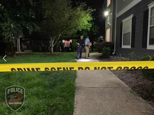 Three shot  at The Pointe at Raiders Campus Apartments on North Tennessee Boulevard on Sept. 22, 2019.