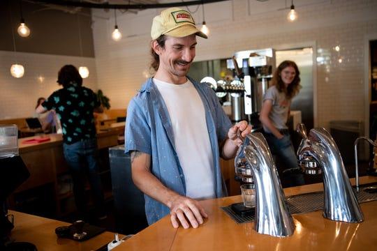 Barista Jesse Lendzion makes drinks at Steadfast Coffee in Nashville on Sept. 23, 2019.