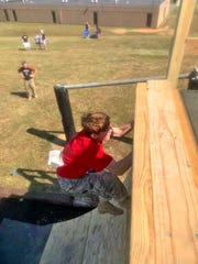 6th Annual Bring the Sting JROTC Raider Competition at Fairview High School on Sept. 14, 2019.  A new obstacle course feature this year, the warped wall.