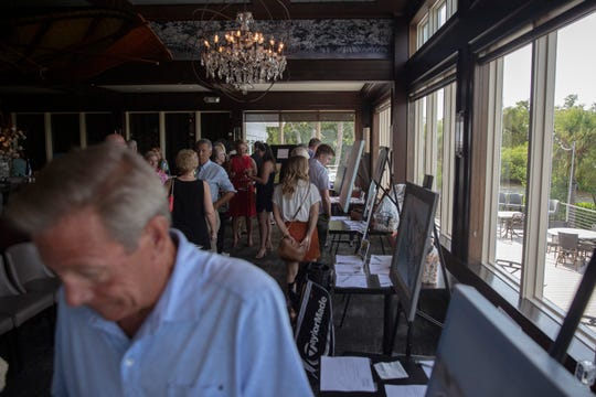 Local nonprofit Captains for Clean Water holds a fundraiser at The Bay House in Naples to promote water on quality issue on Sunday, September 22, 2019.