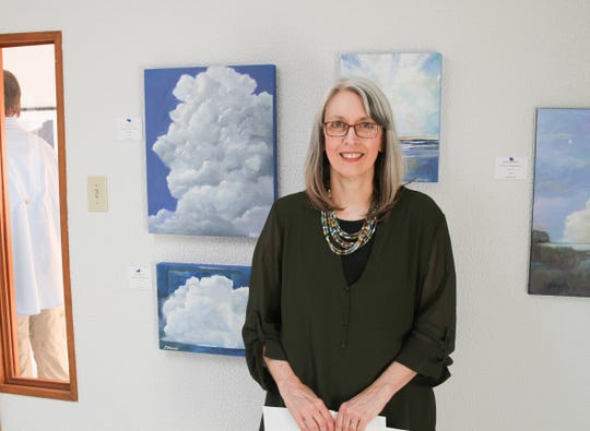Seven local artists from Otero County displayed their works at Clay Time Pottery and Ceramics new fine arts gallery Sept. 20, like artist Lydia Winiecki.