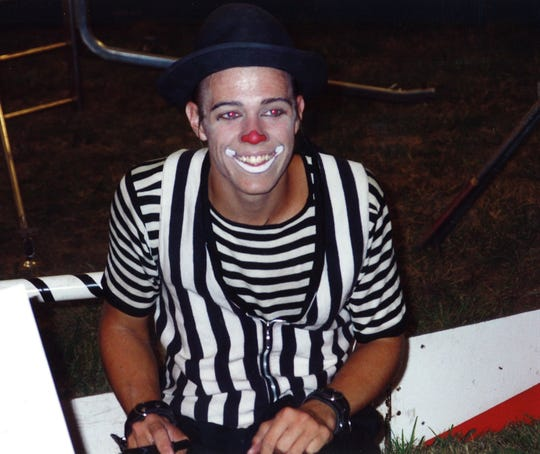 "When Rich ""Dick"" Satori was 15 years old, he joined the circus and had his own clown act. He is seen here signing autographs at intermission in 1995. He then went to acting school in North Carolina in 1998."