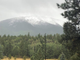 Snow fell on the San Francisco Peaks near Flagstaff on Sept. 23, 2019, as remnants of Hurricane Lorena marched across Arizona.