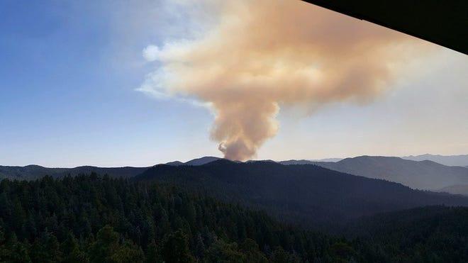 The Johnson Fire burning 8 miles south of Prescott on September 22, 2019.