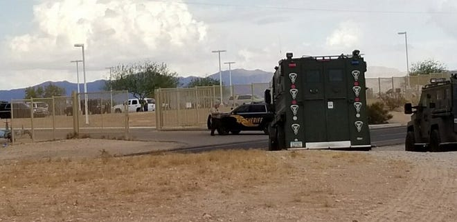 Maricopa County Sheriff's deputies were at the scene of a barricade situation near Tonopah late afternoon on Sept. 23, 2019.