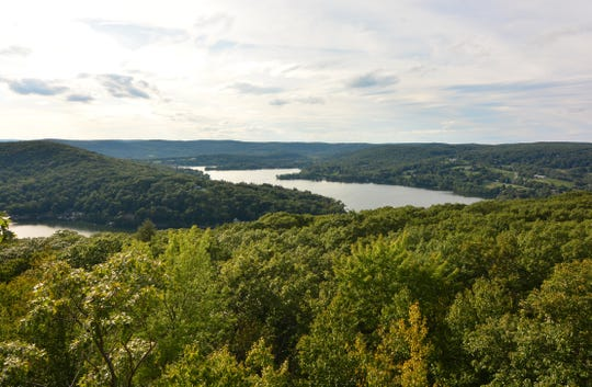 The view of Lake Waramaug is worth the hike along Meeker Trail.