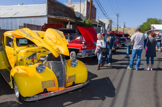 The car show was a popular attraction at Dayton Valley Days.