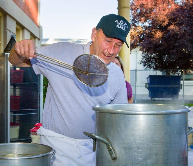 George Dini prepares ravioli for the Taste of the Valley's Jeanne Dini Ravioli Night dinner.