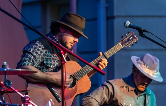 Tyler Stafford performs for Saturday night's Taste of the Valley Festival.