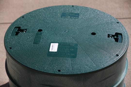 A Polylok lid, similar to the one that covered the grease trap at Tim Hortons.