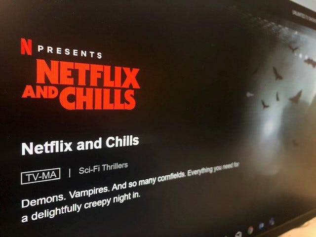 Netflix has released its line-up for the new 'Netflix and Chills' tab.