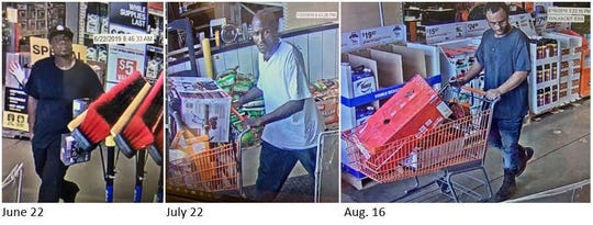 The Shreveport Police Department is asking for help in identifying suspects of various thefts that occurred at Home Depot this summer.