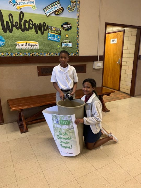 Broadmoor Middle School students prepare for the first Green Day.