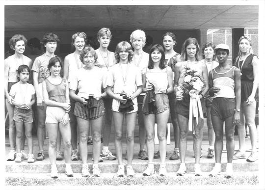Finishers in the first Women's Distance Festival in 1982, courtesy of Mae Cleveland.