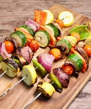 Grilled vegetable kabobs are just as good the next day as a healthy, colorful addition to your salads, omelets, frittatas, pizzas, and even pasta salads.