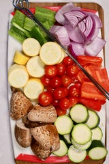 Cut up the veggies about the same size so they will cook in the same amount of time.