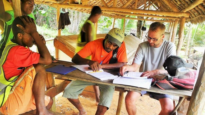 Tallahassee native Matt Hill works with GreenAgain colleagues in Madagascar. Hill will be in Tallahassee to talk about the project and get an award from Maclay.