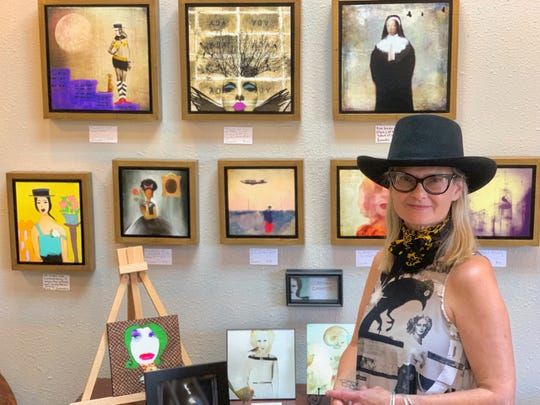Lorenka Campos regularly sets up in the Lilly Pad art studio for After Hours Artwalks, and her work will be on display in the studio across the street from the Farmers Market from 5 to 10 p.m. Thursday, Oct. 3.