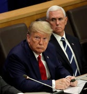 President Donald Trump and Vice President Mike Pence went to the United Nations on Monday to call for international protections of religious freedom.