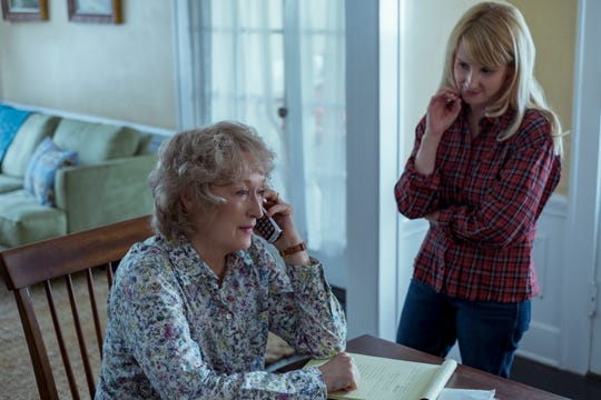 """After the death of her husband, Ellen (Meryl Streep, left) works with her daughter (Melissa Rauch) to get finances in order in """"The Laundromat."""""""
