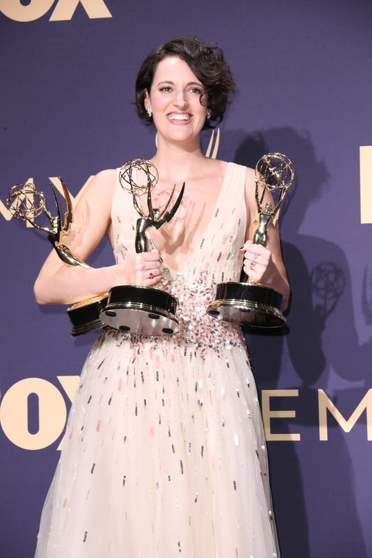 Phoebe Waller-Bridge, winner of the awards for prominent lead actress in a comedy sequence, prominent comedy sequence, and prominent writing for a comedy sequence for