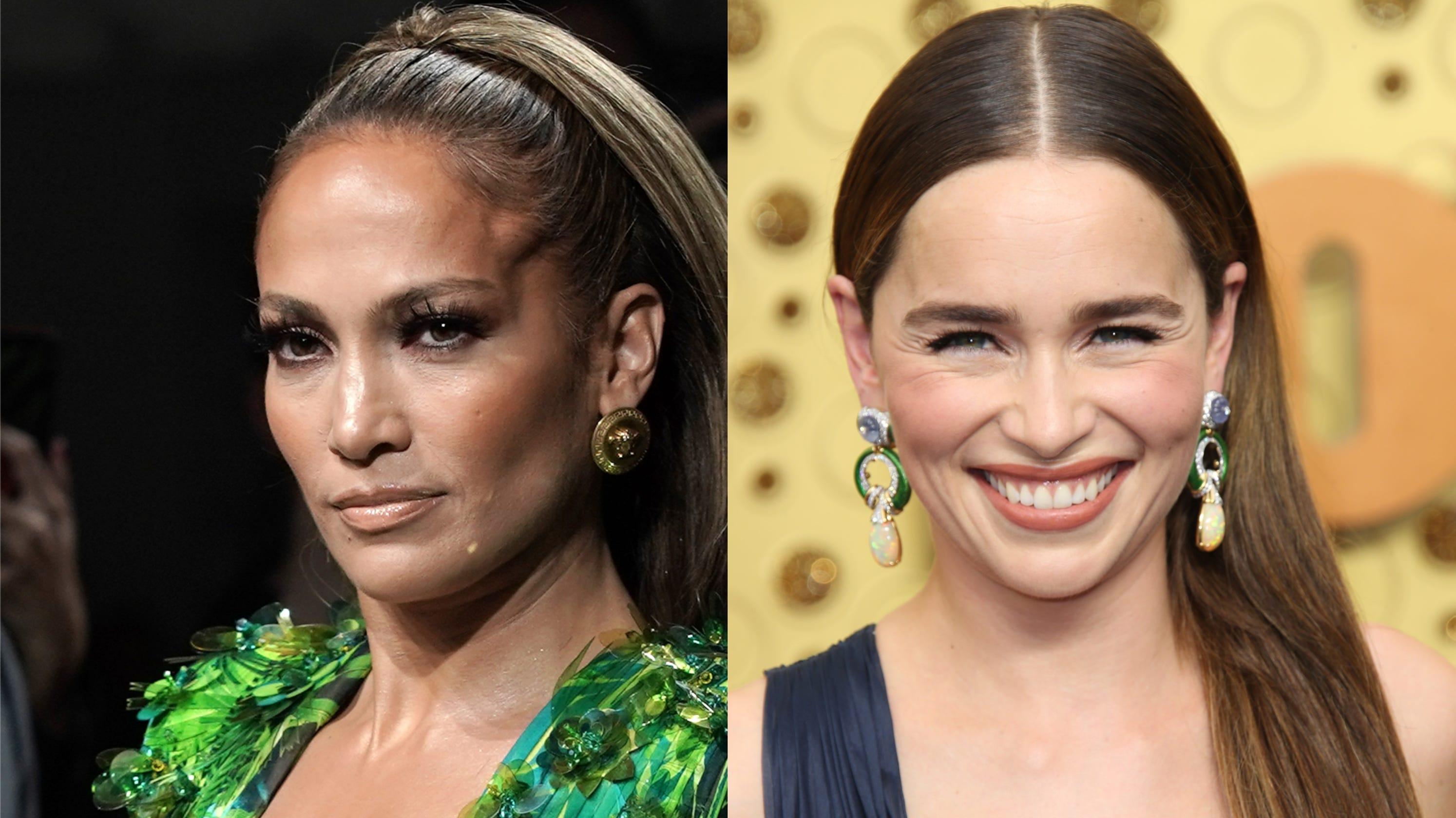 Emilia Clarke's Jennifer Lopez-inspired Emmys look earns praise from 'Hustlers' star
