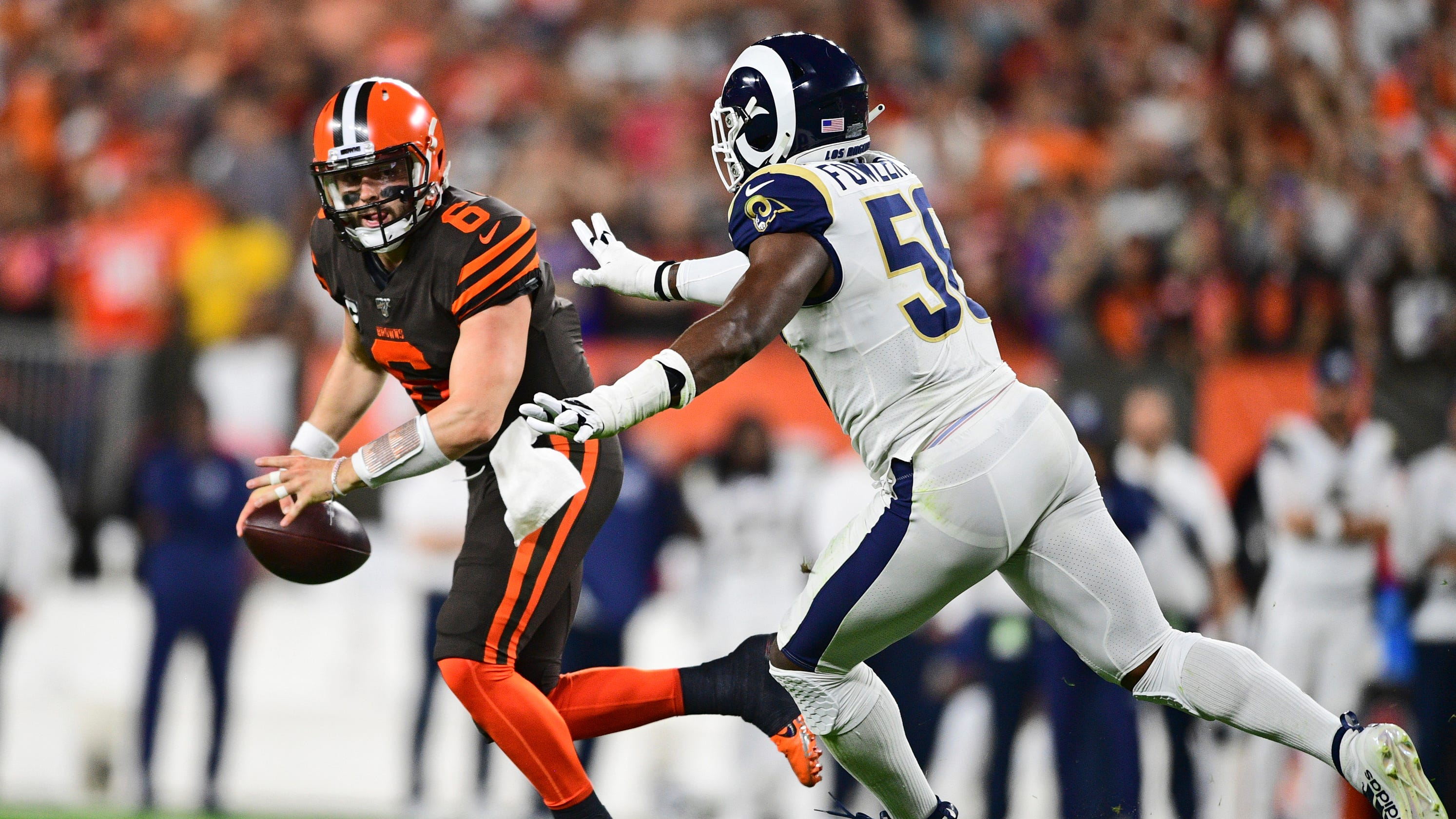 LA Rams bottle up Baker Mayfield, Cleveland Browns to move to 3-0