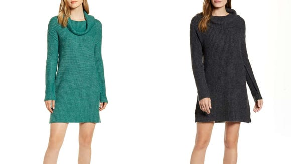 Knit dresses can go from fall to winter.