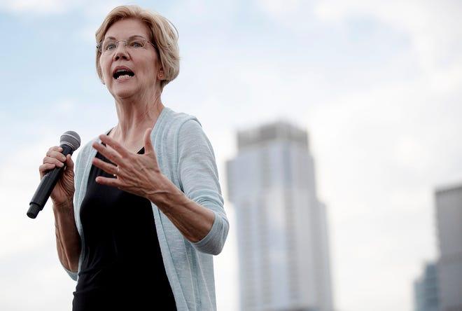 Sen. Elizabeth Warren of Massachusetts campaigns in Austin, Texas, on Sept. 10, 2019.