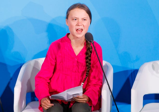 Greta Thunberg, the 16-year-old climate activist from Sweden, addresses world leaders at the start of the 2019 Climate Action Summit.